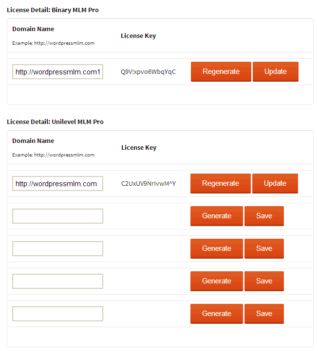 Generate License Key